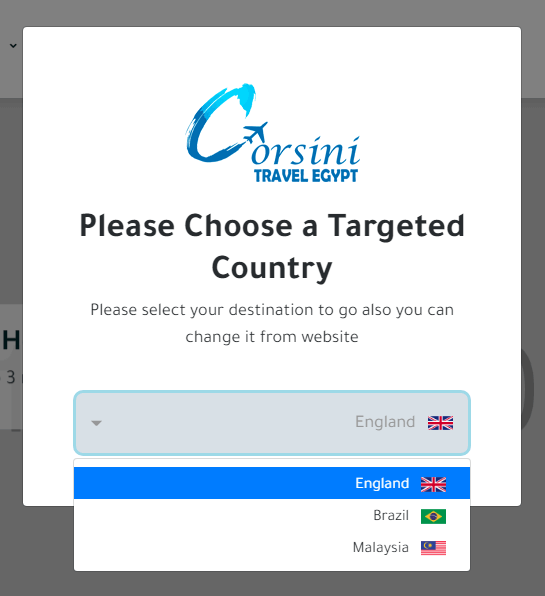 Country / Language Selection