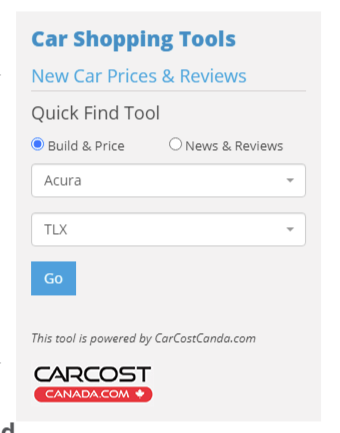 Widgetized Plugins for Parteners Cars Search Engines
