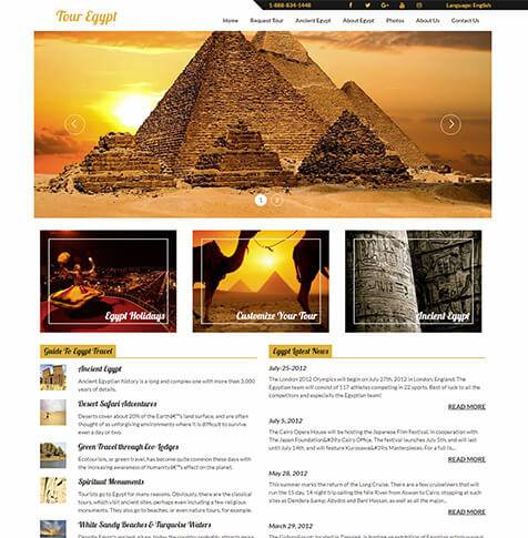 Tour Egypt - Travel Portal Development