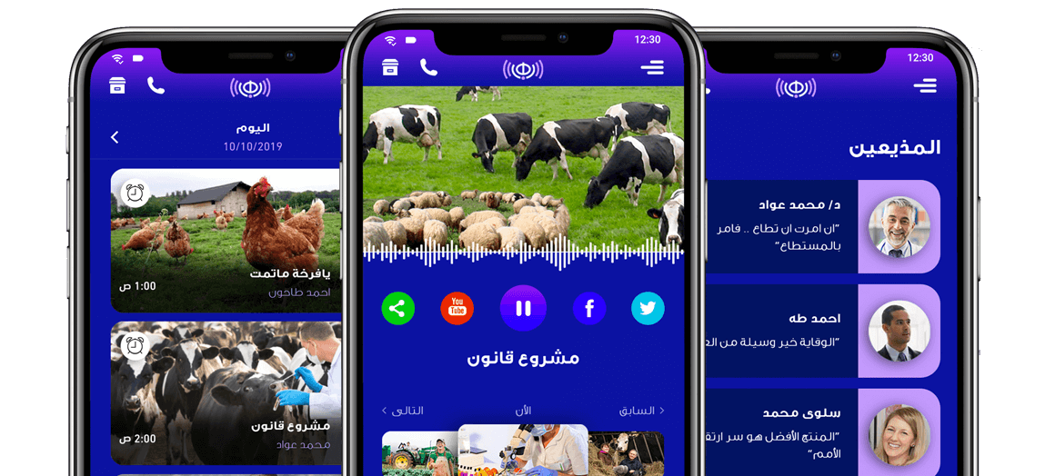 design and development for an online radio mobile app