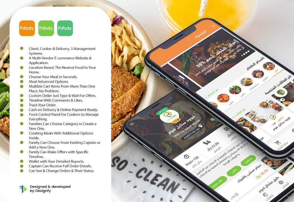 التقييم فى تطبيقات توصيل طلبات الطعام